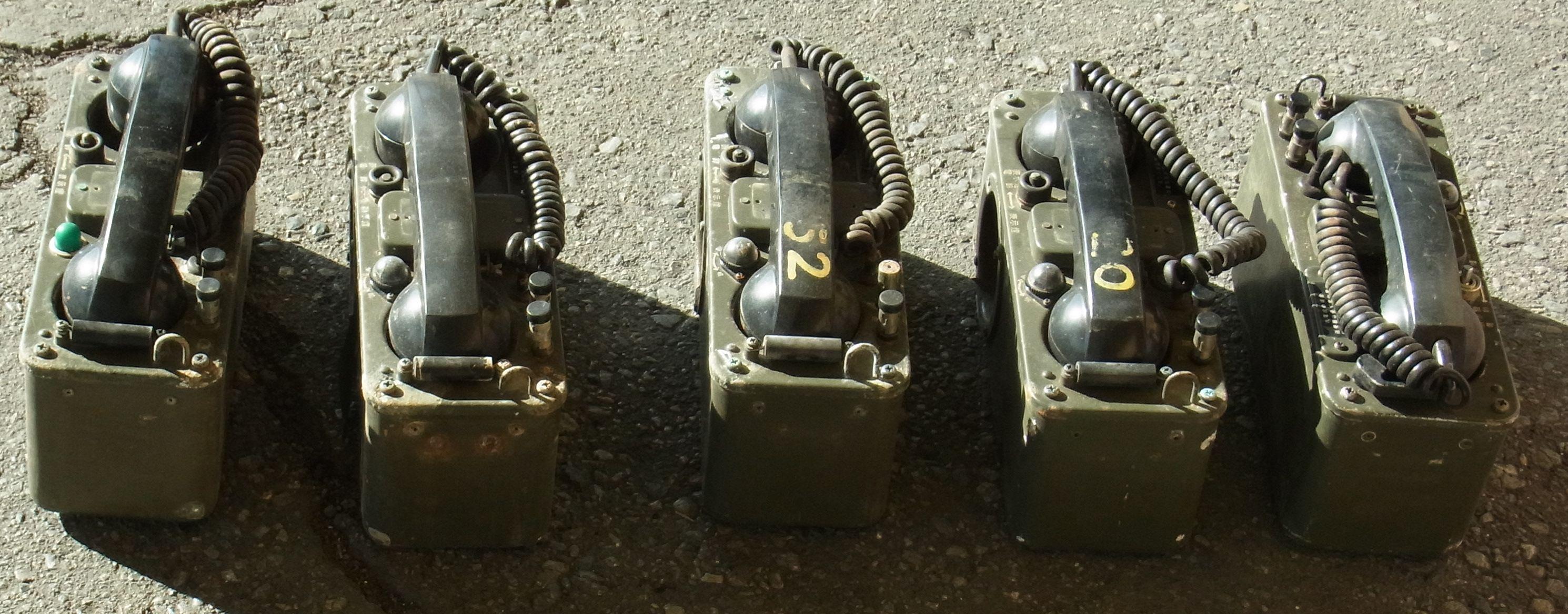 買取)自衛隊 70式野外電話機 JT...